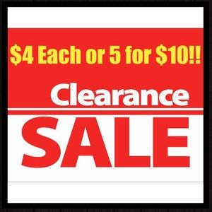 Other - ALL $4 items are 5 for $10!!!
